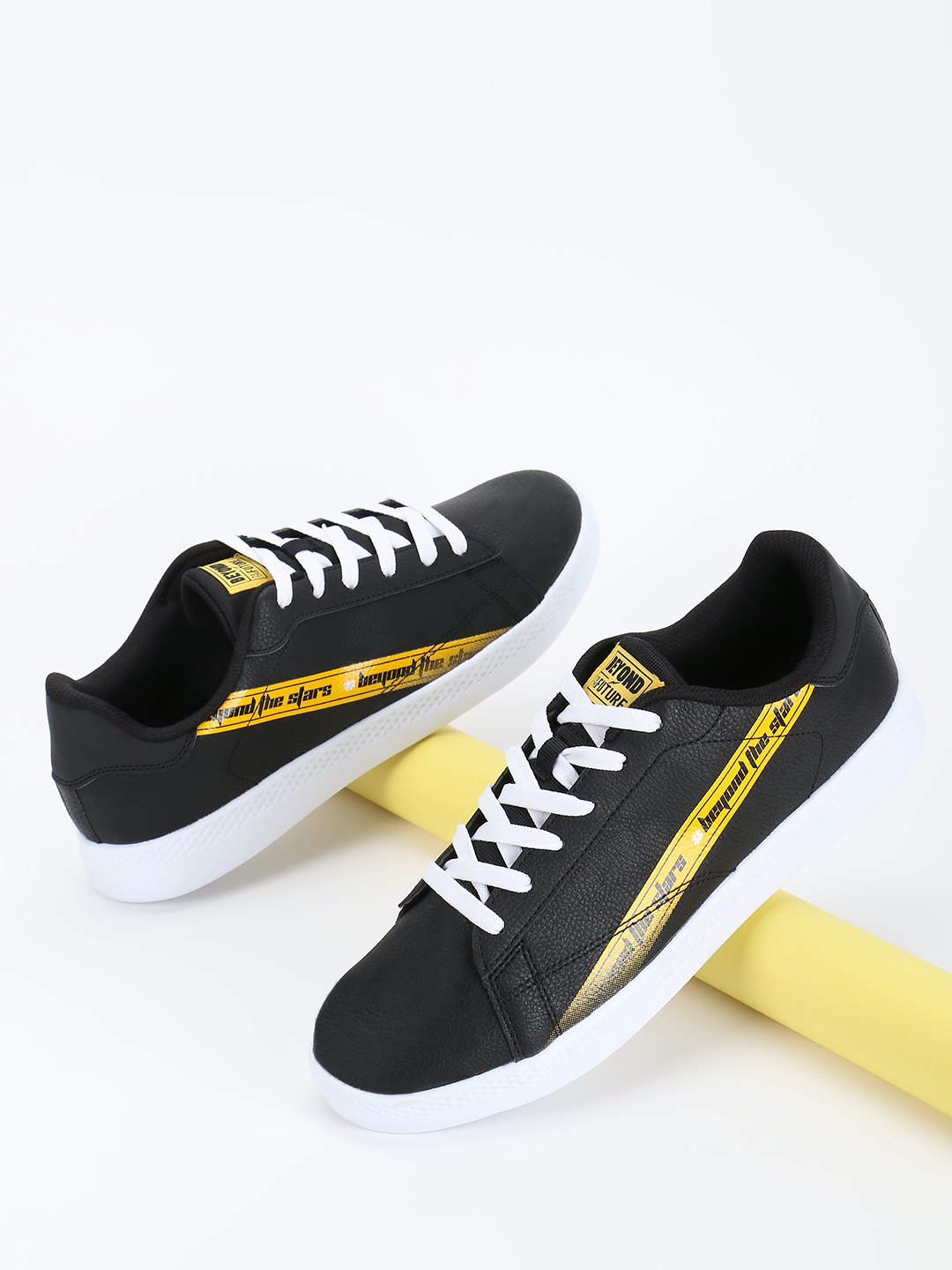 361 Degree Black Skateboarding Shoes 1