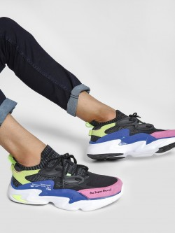 361 Degree Colour Block Suede Trainers