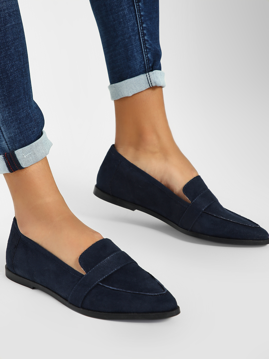 ILLIMITE Blue Suede Loafers 1