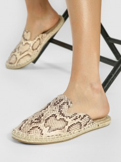 ILLIMITE Snakeskin Slip On Espadrilles