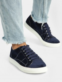 ADORLY Velour Detail Sneakers