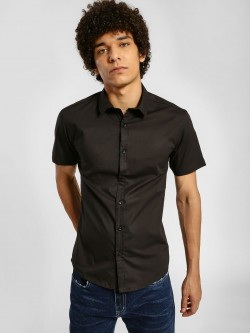 KOOVS Short Sleeve Poplin Shirt