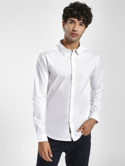 KOOVS Muscle Fit Long Sleeve Shirt