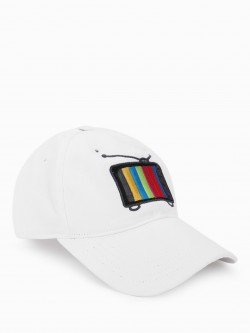 Lazy Panda Television Embroidered Cap