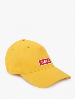 Lazy Panda Beer Text Embroidered Cap