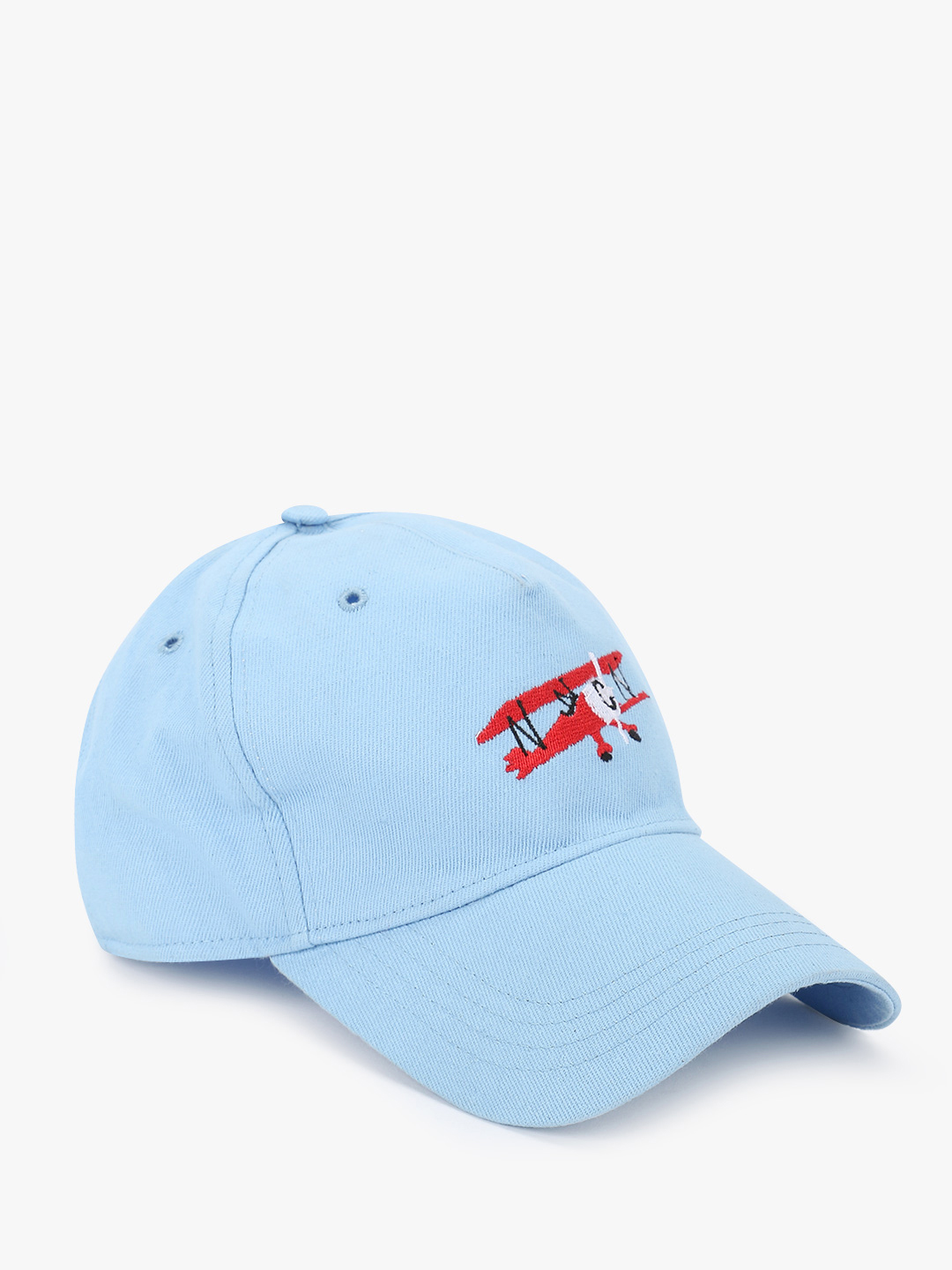 Lazy Panda Blue Airplane Embroidered Cap 1