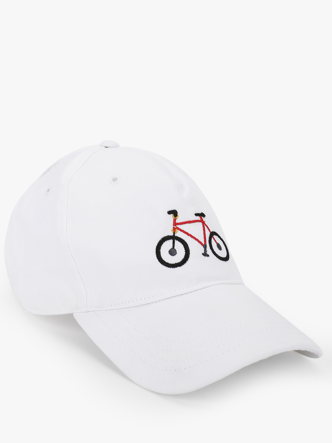 Lazy Panda White Cycle Embroidered Cap 1