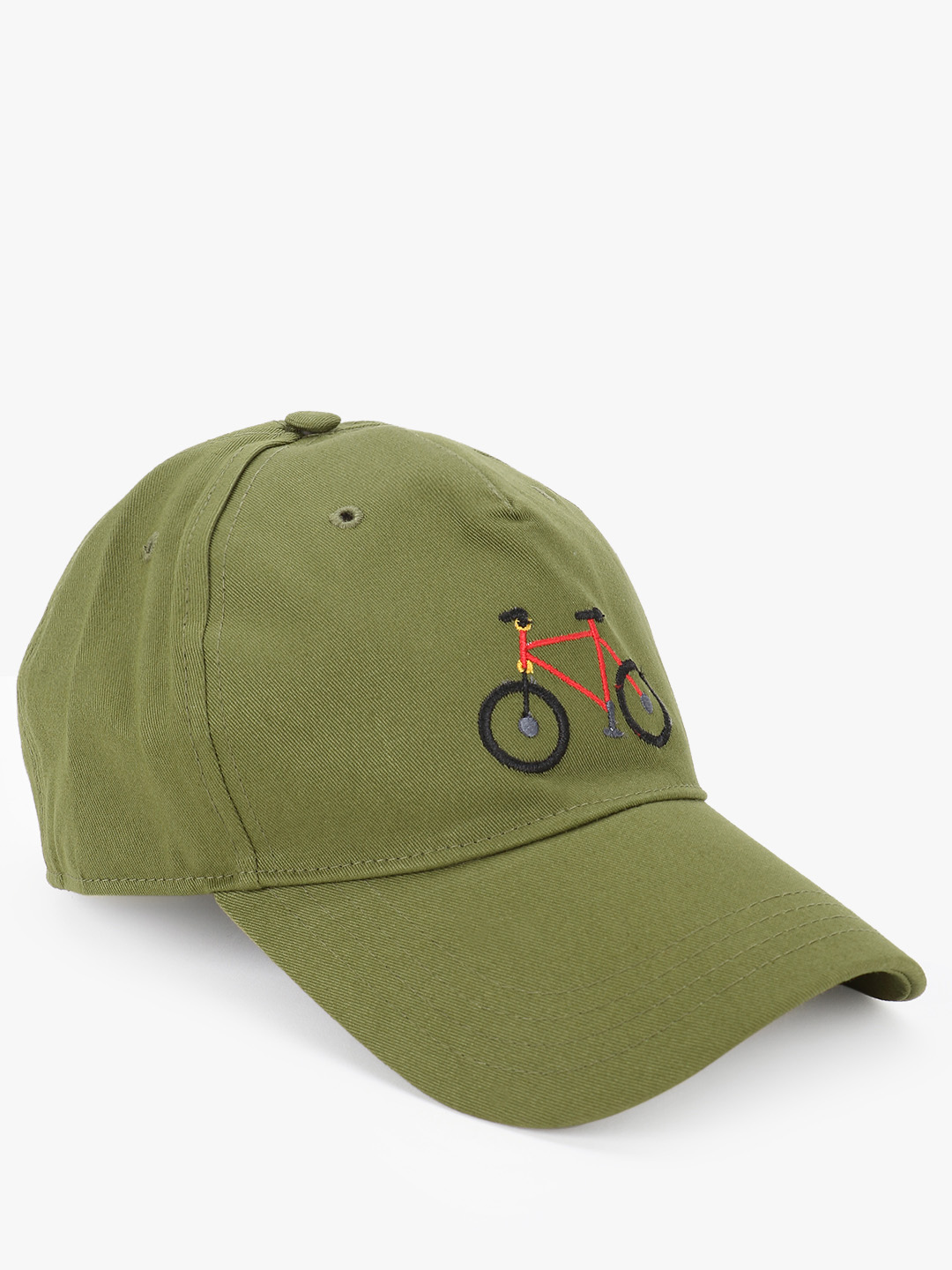 Lazy Panda Green Cycle Embroidered Cap 1