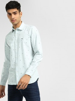Lee Cooper Ditsy Print Long Sleeve Shirt