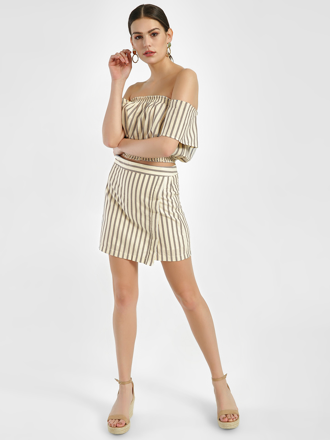 Spring Break Multi Woven Stripe Mini Skirt 1