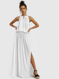 The Paperdoll Company Halter Neck Maxi Dress