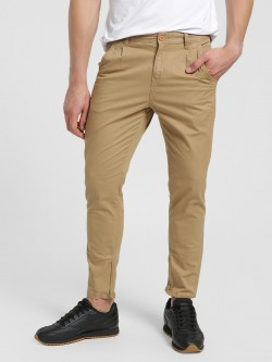 Flying Machine Zippered Hem Slim Fit Trousers
