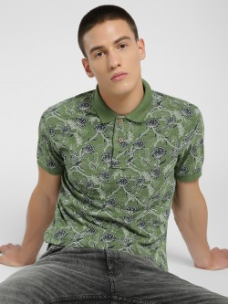 Flying Machine Floral Print Polo Shirt