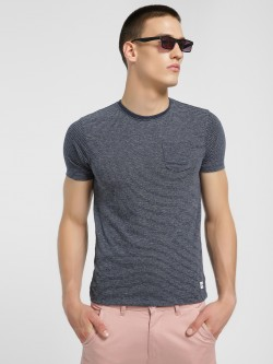 Flying Machine Woven Pinstripe Pocket T-Shirt
