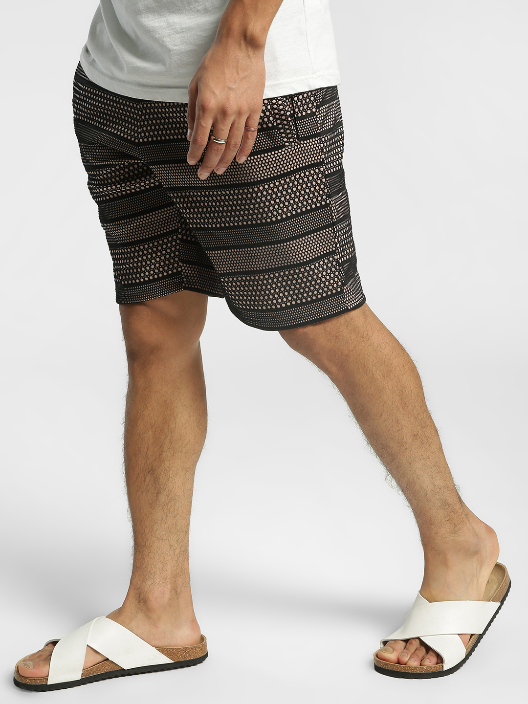 KOOVS Multi Mesh Fused Regular Shorts 1