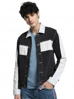 K Denim KOOVS Colour Bloc Trucker Jacket