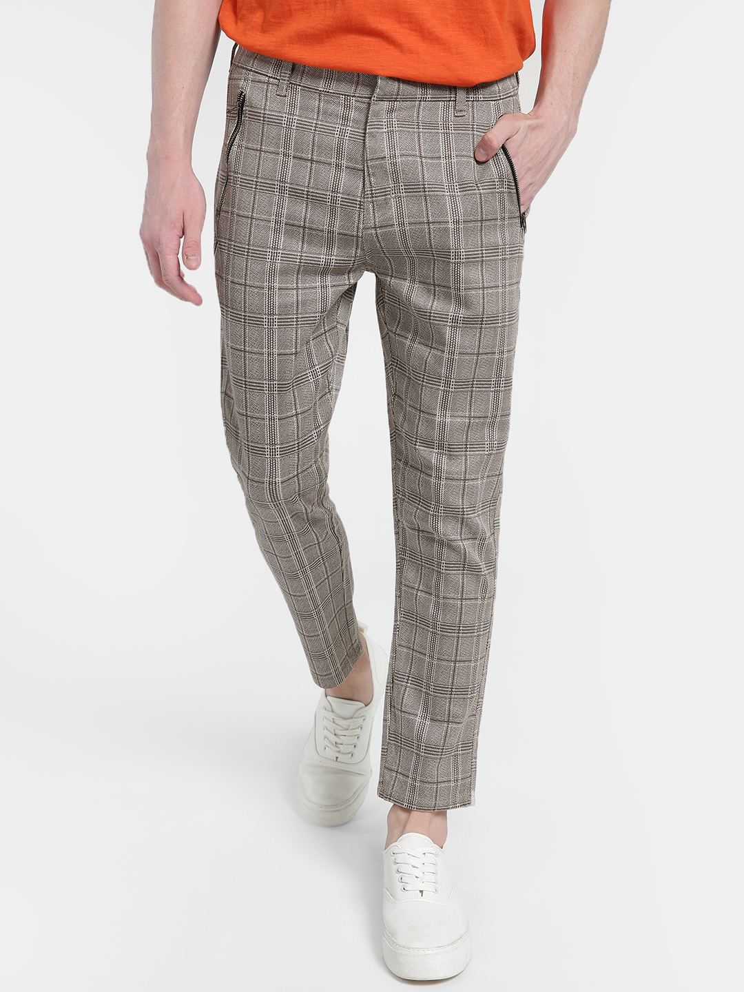 KOOVS Multi Multi-Check Slim Chinos 1