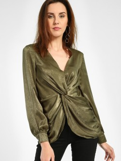 JJ's Fairyland Front Twist-Knot Blouse