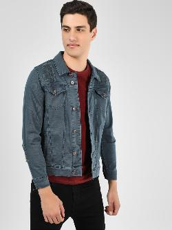 Blue Saint Overdyed Distressed Denim Jacket
