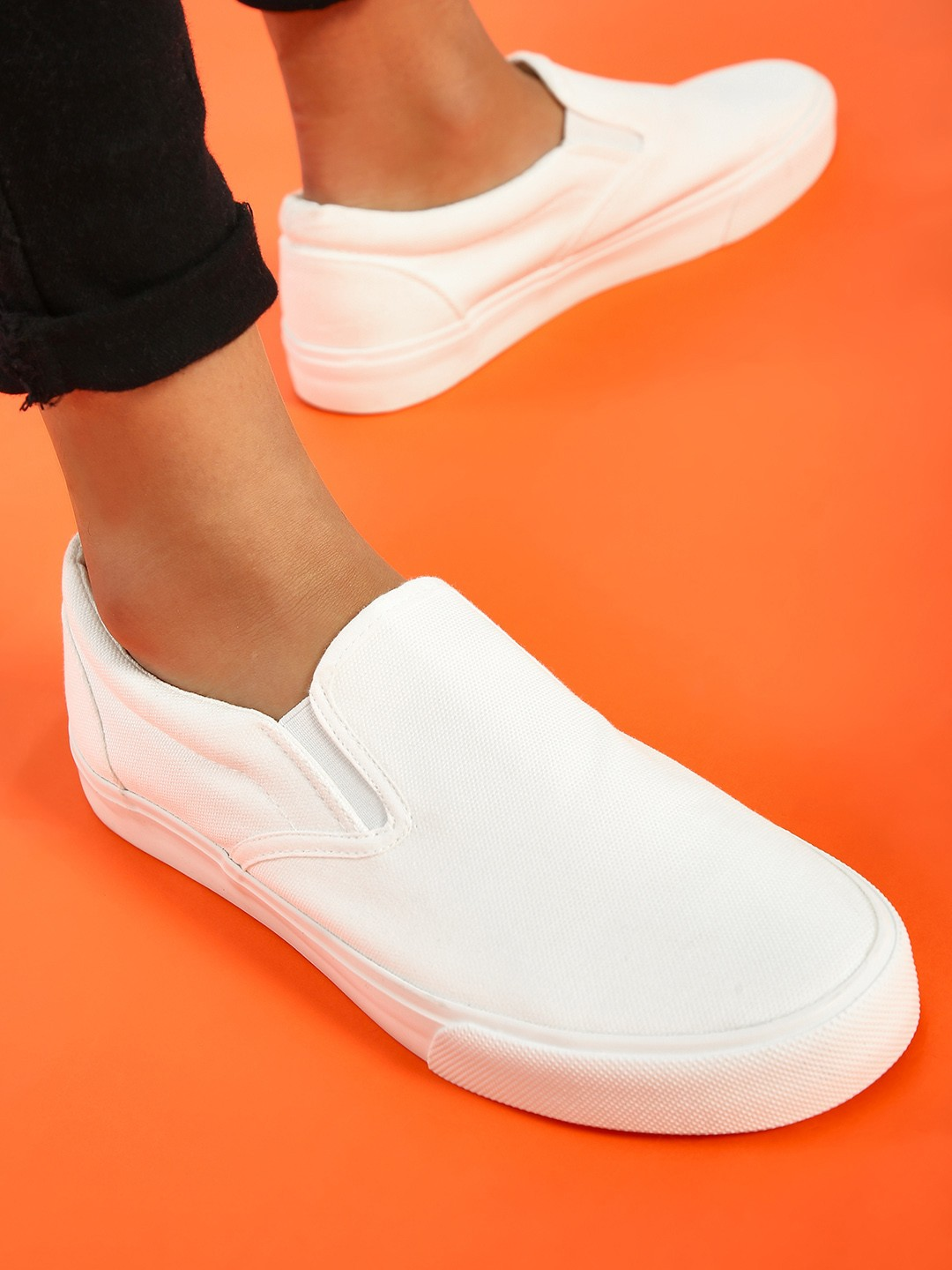 New Look White Basic Flat Sole Shoes 1