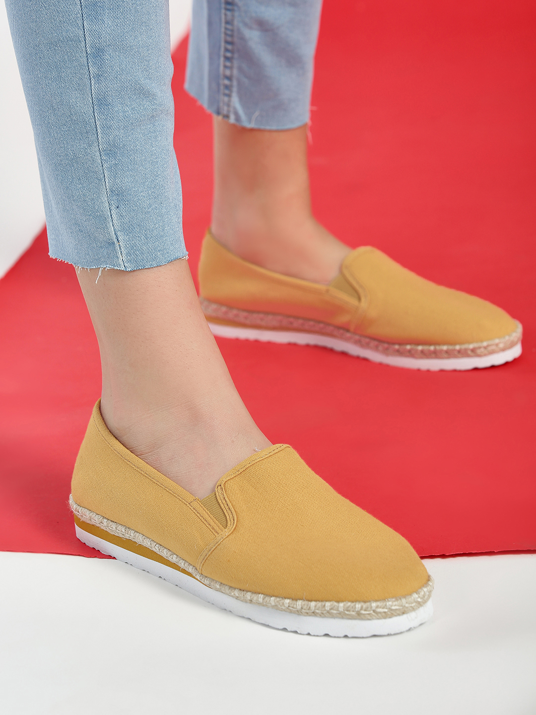 New Look dark yellow Basic Canvas Espadrilles 1
