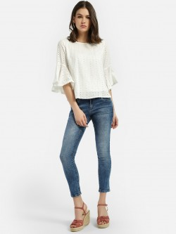Lee Cooper Light Wash Cropped Skinny Jeans