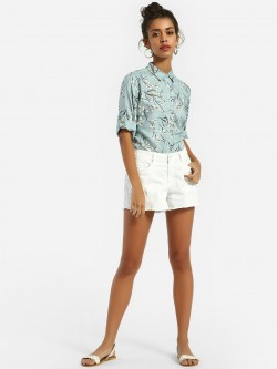 Lee Cooper Distressed Denim Shorts