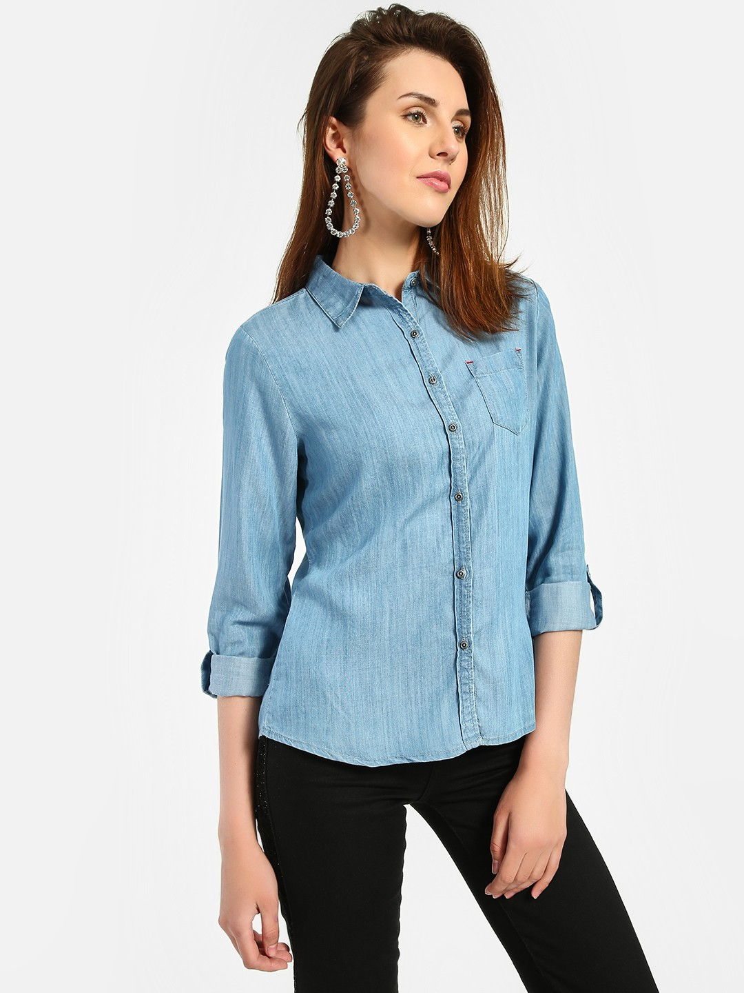 Lee Cooper Blue Basic Denim Shirt 1