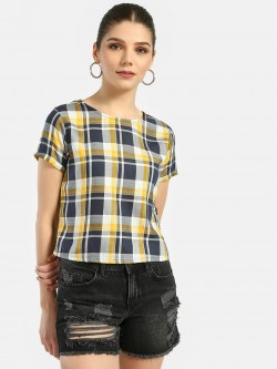 Lee Cooper Multi-Check Short Sleeve Top