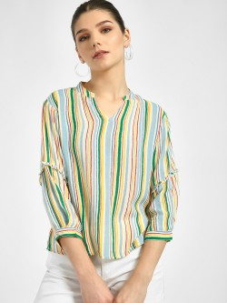 Lee Cooper Multi-Stripe Long Sleeve Blouse