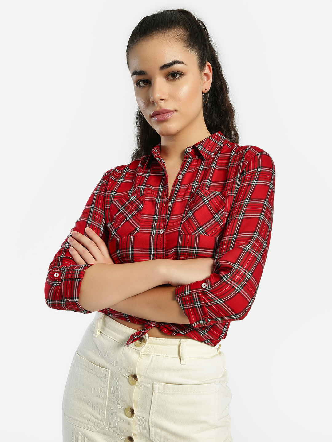 Lee Cooper Red Multi-Check Twin Pocket Shirt 1