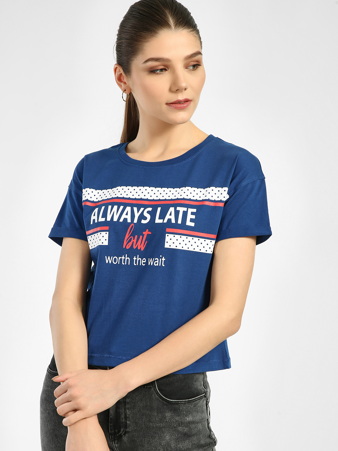 Lee Cooper Blue Slogan Placement Print T-Shirt 1