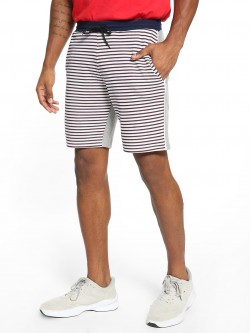 KOOVS Front Horizontal Stripe Sweat Shorts