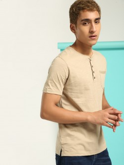 Buffalo Slub Henley Neck T-Shirt