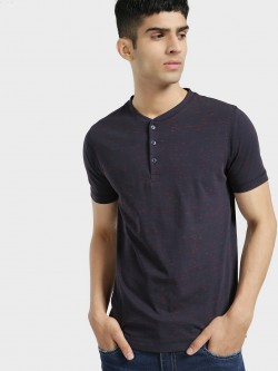 Buffalo Slub Detail Henley Neck T-Shirt