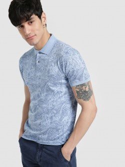 Buffalo Tropical Print Polo T-Shirt
