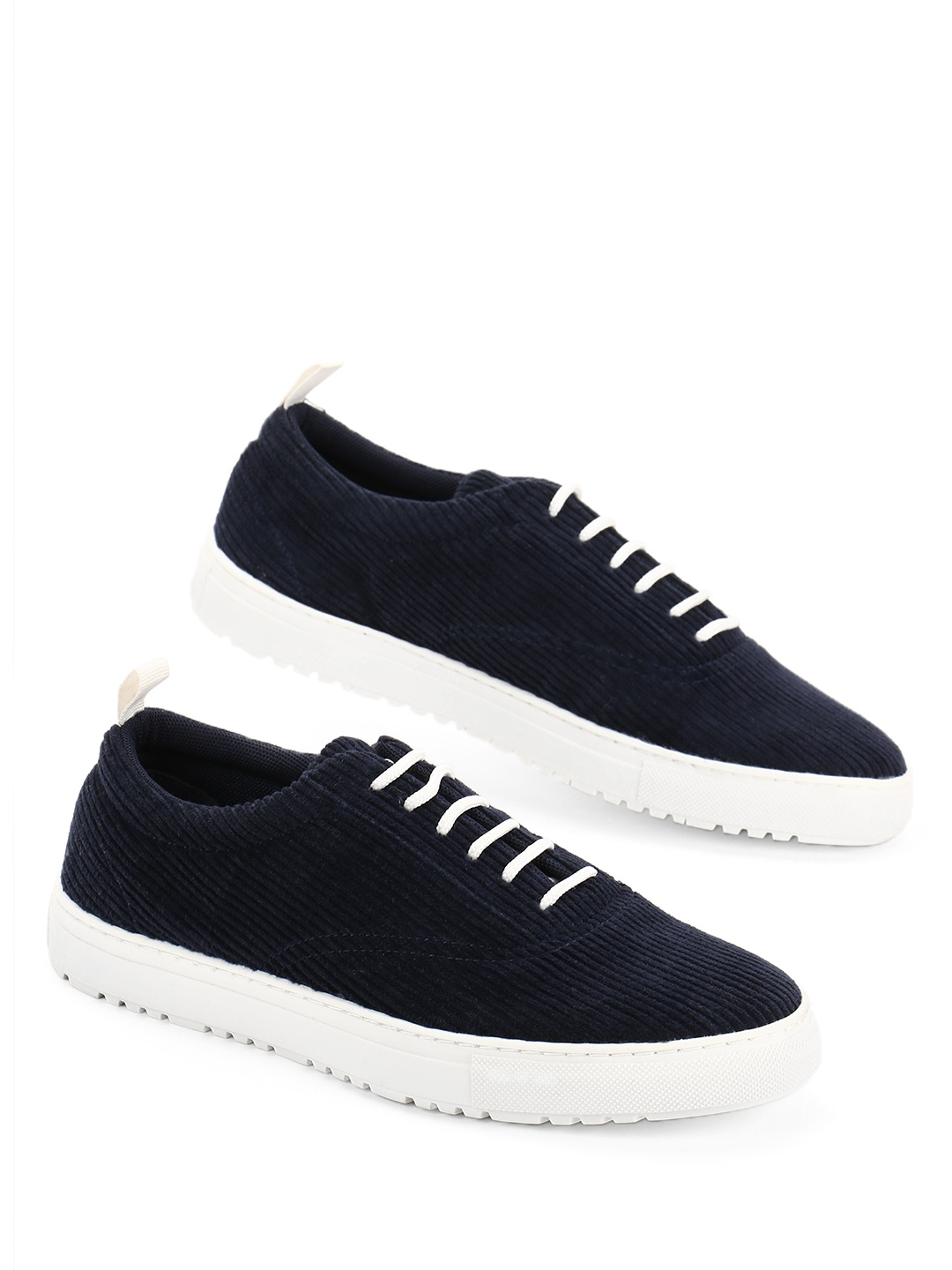 KOOVS Navy Basic Corduroy Lace-Up Sneakers 1