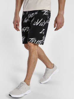 Leo Sansini All Over Text Print Shorts