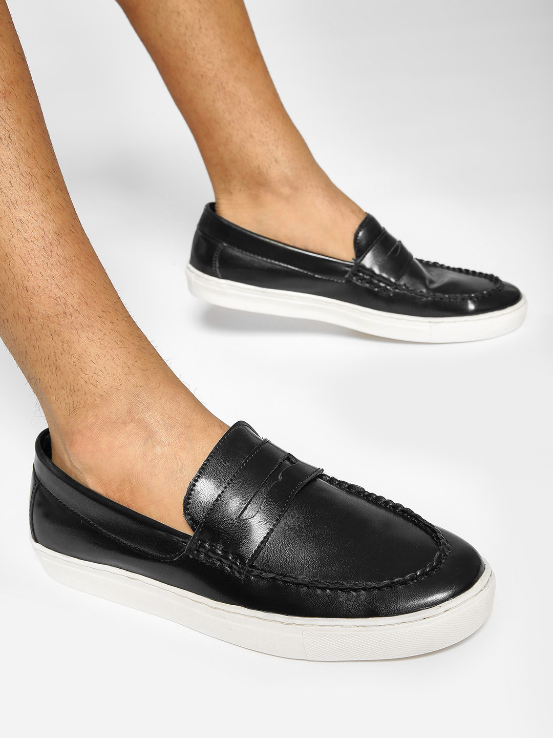 Bolt Of The Good Stuff Black Penny Slip-On Shoes 1