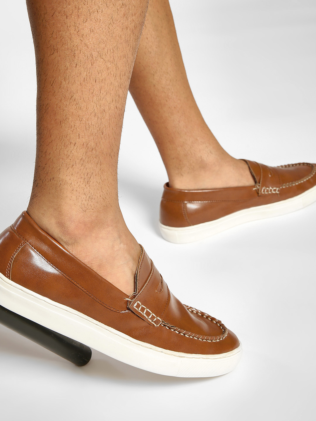 Bolt Of The Good Stuff Brown Penny Slip-On Shoes 1