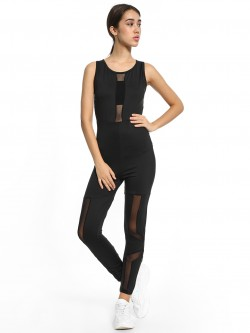 K ACTIVE KOOVS Mesh Detail Unitard Jumpsuit