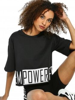 K ACTIVE KOOVS Empowered Print Crop T-Shirt