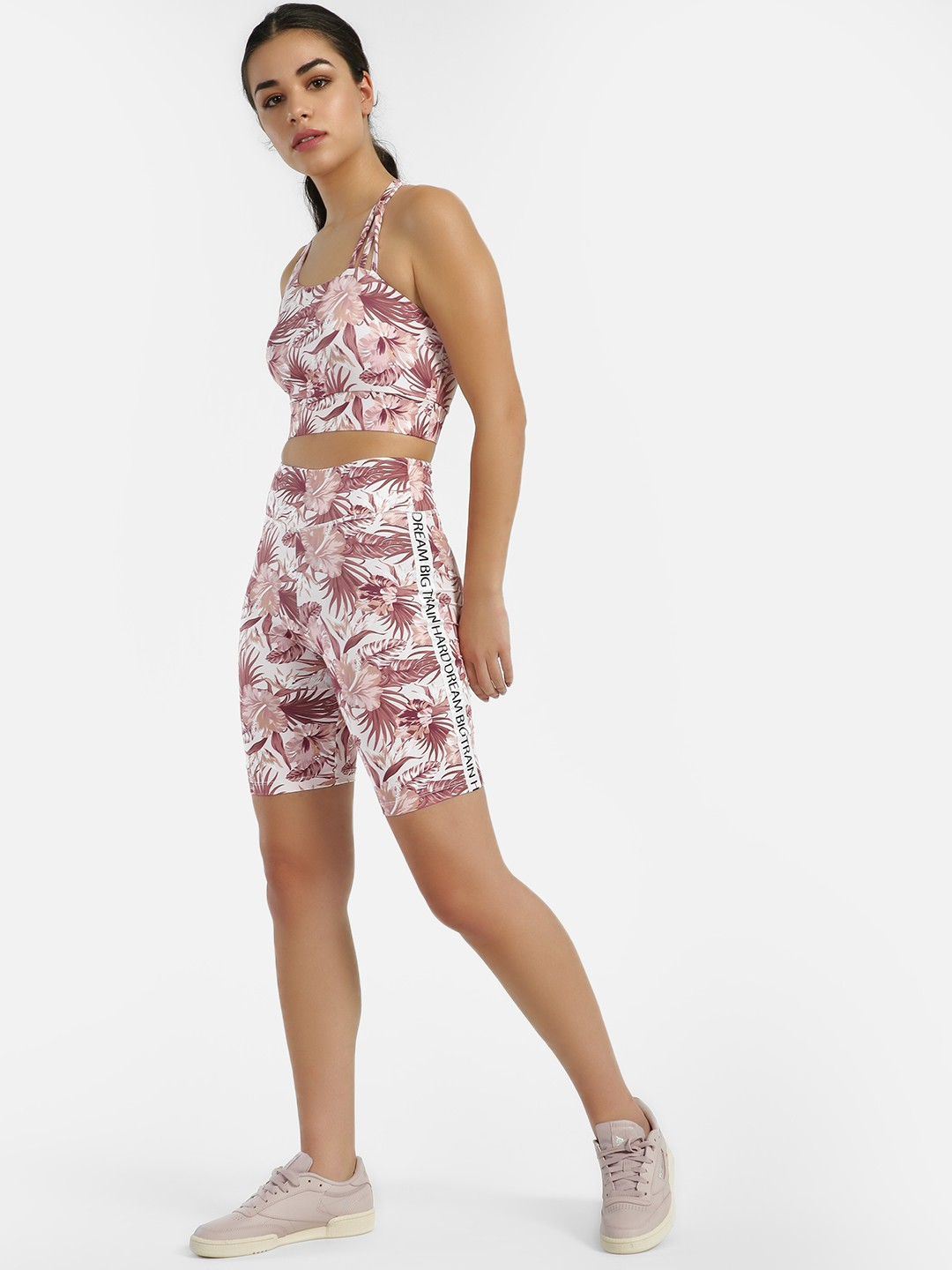 K ACTIVE Multi KOOVS Side Tape Palm Print Shorts 1