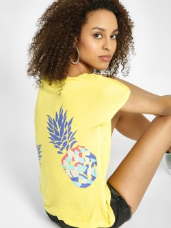 United Colors of Benetton Pineapple Print Back Top