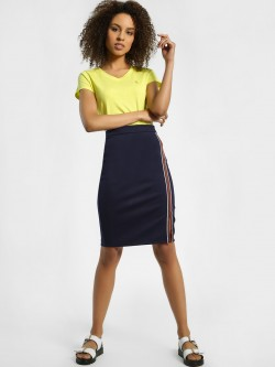 United Colors of Benetton Side Tape Slit Pencil Skirt