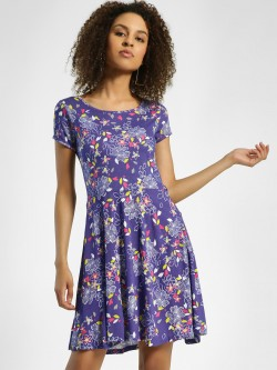 United Colors of Benetton Floral Print Skater Dress