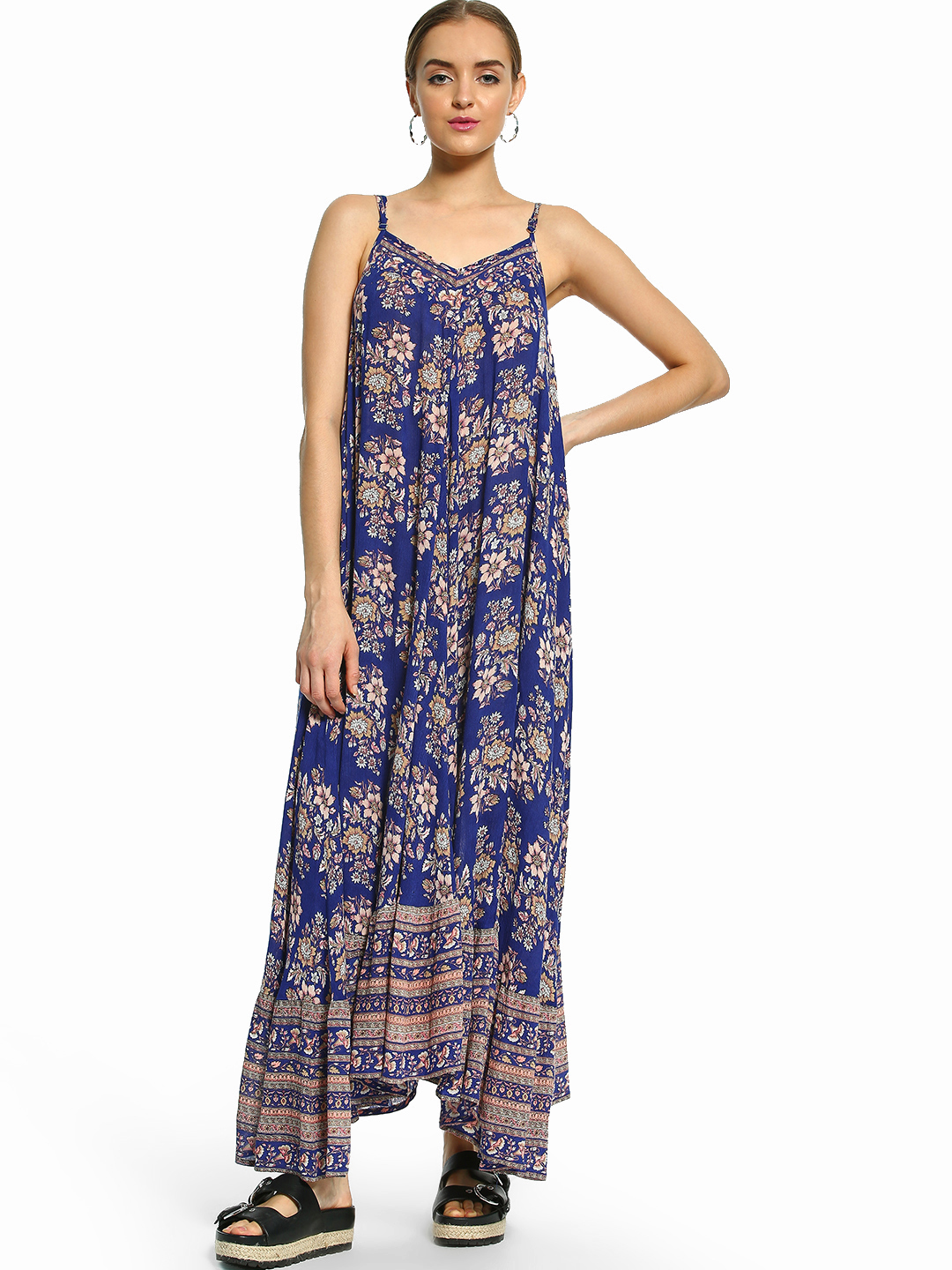 Kisscoast Blue Floral Print Maxi Dress 1