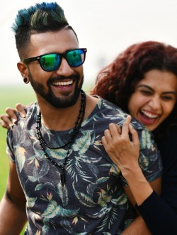 Bollywoo In The Style Of Vicky Kaushal Tropical Print T-Shirt