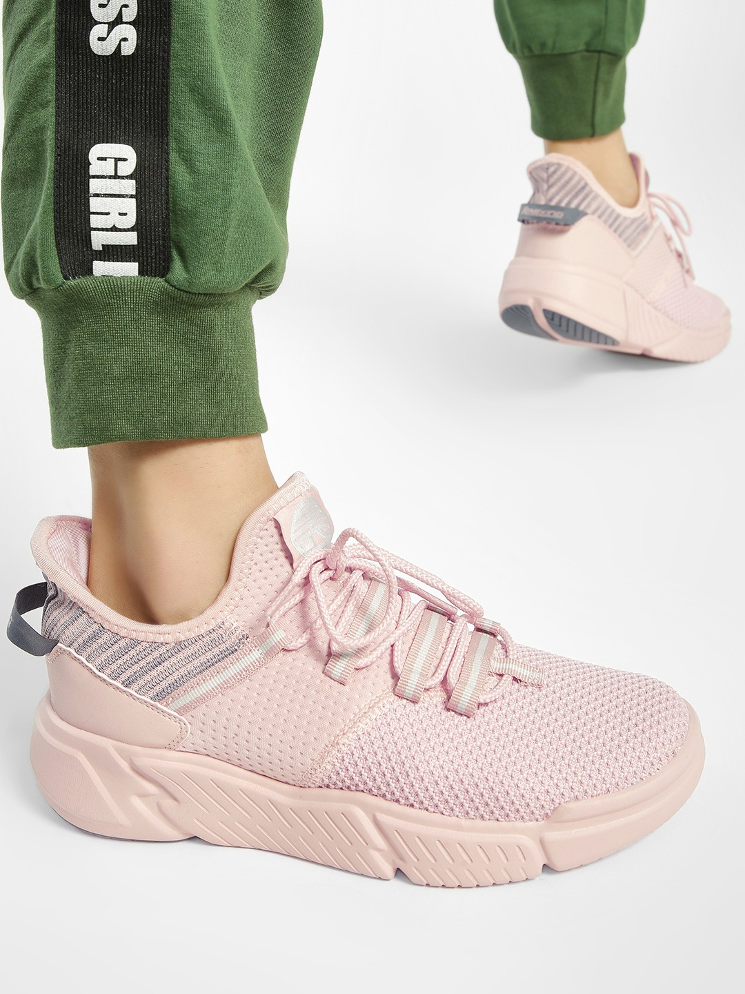 361 Degree Pink Knitted Sockliner Trainers 1