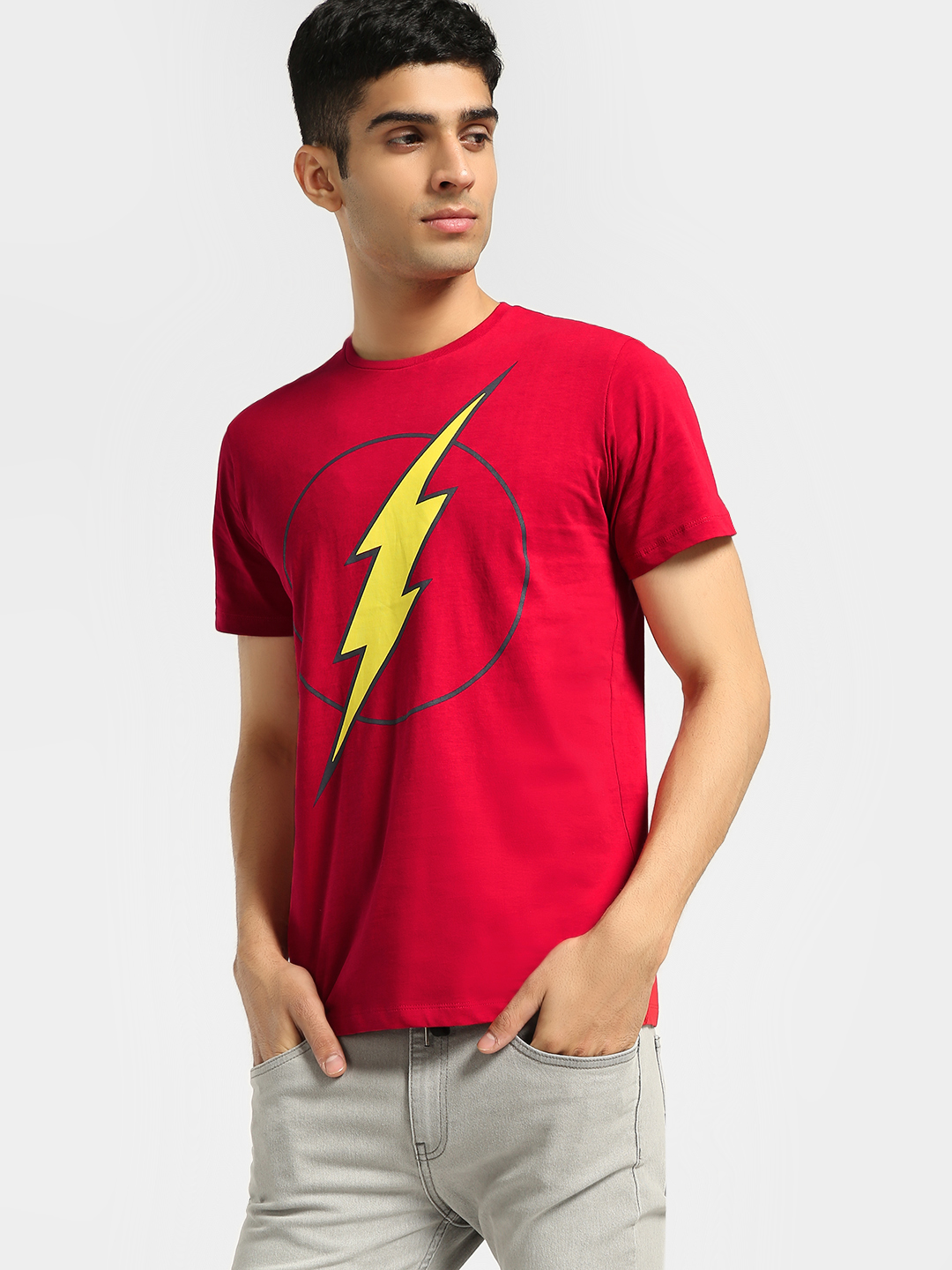 Free Authority Red Captain Marvel Logo Print T-Shirt 1